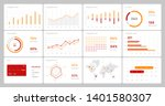 elements of infographics on a... | Shutterstock .eps vector #1401580307