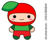 cute baby fruit vector clipart... | Shutterstock .eps vector #1401580844