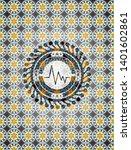 electrocardiogram icon inside... | Shutterstock .eps vector #1401602861