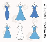 cocktail and evening dresses on ... | Shutterstock .eps vector #140161129
