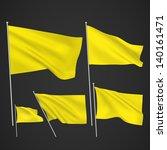 yellow vector flags. a set of 5 ... | Shutterstock .eps vector #140161471