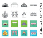 vector illustration of roof and ...   Shutterstock .eps vector #1401619724