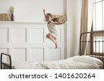 happy preschooler girl have fun ... | Shutterstock . vector #1401620264
