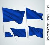 dark blue vector flags. a set... | Shutterstock .eps vector #140162101