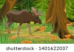 a big moose in the autumn...   Shutterstock .eps vector #1401622037