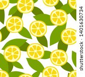lemon fruit seamless pattern.... | Shutterstock .eps vector #1401630734