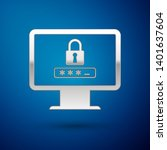 silver monitor with password... | Shutterstock .eps vector #1401637604