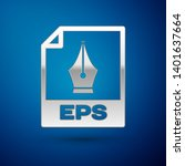 silver eps file document icon.... | Shutterstock .eps vector #1401637664