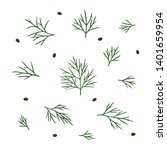 hand drawn dill isolated.... | Shutterstock .eps vector #1401659954