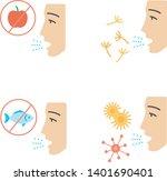 allergies flat design long... | Shutterstock .eps vector #1401690401