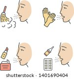 allergies color icons set.... | Shutterstock .eps vector #1401690404