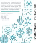 wildlife and safari article... | Shutterstock .eps vector #1401690431