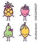 isolated fruit characters... | Shutterstock .eps vector #1401694037