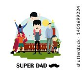 happy father's day celebration... | Shutterstock .eps vector #1401699224