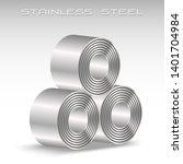 stainless steel sheet in coil ... | Shutterstock .eps vector #1401704984