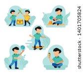 vector illustration of two... | Shutterstock .eps vector #1401705824