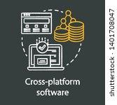 cross platform software... | Shutterstock .eps vector #1401708047