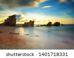 tropical motion seascape with... | Shutterstock . vector #1401718331
