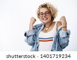 oh yes vacation. cheering happy ...   Shutterstock . vector #1401719234