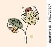 vector illustration in minimal... | Shutterstock .eps vector #1401727307