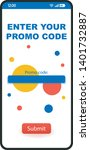 enter promo code page...