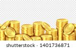 gold coins stack. realistic... | Shutterstock .eps vector #1401736871