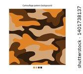 military camouflage orange...   Shutterstock .eps vector #1401738137