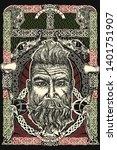 viking. celtic print. barbarian ... | Shutterstock .eps vector #1401751907