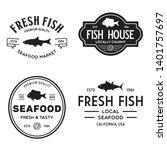 Vector Set Of Fresh Fish Labels ...