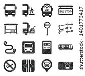 Bus Icons. Black Scribble...