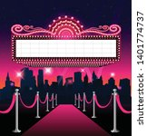 red carpet event with city... | Shutterstock .eps vector #1401774737