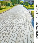 nicely paved long driveway ... | Shutterstock . vector #140178829