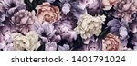 seamless floral pattern with... | Shutterstock . vector #1401791024