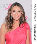 Small photo of New York, NY - May 15, 2019: Elizabeth Hurley wearing dress by Julie Vino attends the Breast Cancer Research Foundation's 2019 Hot Pink Party at Park Avenue Armory