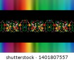 mexican traditional textile... | Shutterstock .eps vector #1401807557