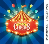 circus banner. carnival banner. ... | Shutterstock . vector #1401844901
