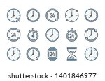 time and clock related color... | Shutterstock .eps vector #1401846977