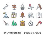 camping activities related... | Shutterstock .eps vector #1401847001