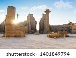 Ruins And Statues Of Karnak...