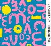 brush strokes pattern. abstract ...   Shutterstock .eps vector #1401859787
