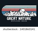 mountain illustration  outdoor... | Shutterstock .eps vector #1401863141