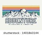 mountain illustration  outdoor... | Shutterstock .eps vector #1401863144