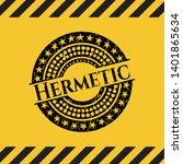 hermetic inside warning sign ...   Shutterstock .eps vector #1401865634