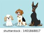 dog breeds illustration ... | Shutterstock .eps vector #1401868817