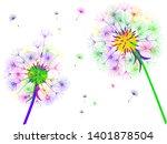 dandelion background for your...   Shutterstock .eps vector #1401878504
