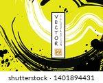 black ink brush stroke on white ... | Shutterstock .eps vector #1401894431
