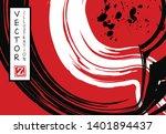 black ink brush stroke on white ... | Shutterstock .eps vector #1401894437