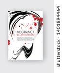 ink brush stroke background.... | Shutterstock .eps vector #1401894464