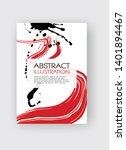 ink brush stroke background.... | Shutterstock .eps vector #1401894467