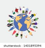 people in the world. people... | Shutterstock .eps vector #1401895394
